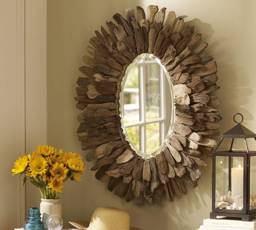 Pottery Barn Driftwood Mirror